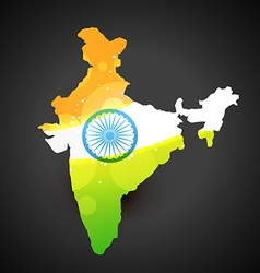 Indian flag map vector