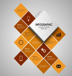 Info graphic with orange squares template vector