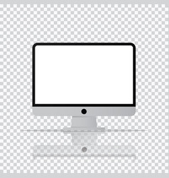 Isolated desktop computer icon pc monitor icon in vector