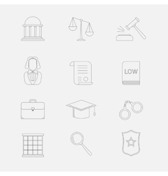 Law and justice thin line icons The legal vector image