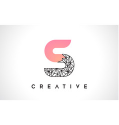 Letter s beauty logo s letter design with origami vector