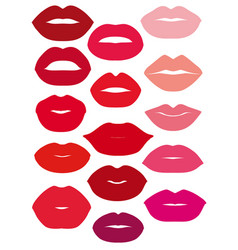 lips set design element vector image