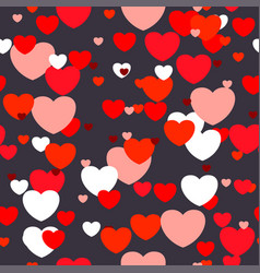 love dark seamless pattern vector image