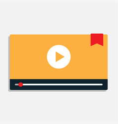 modern interface video player vector image