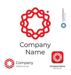 modern stylish flower line swirl logo identity vector image