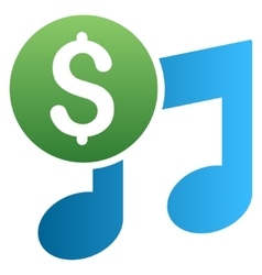 Music Price Gradient Icon vector image