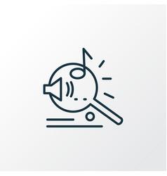 Music search icon line symbol premium quality vector