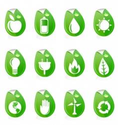 natural energy symbols vector image