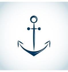 Nautical anchor icon blue vector image