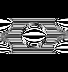 Op art psychedelic lines abstract pattern vector