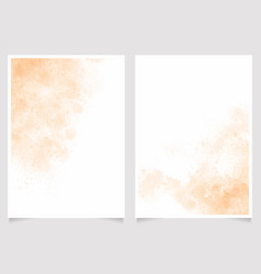 orange sand beach watercolor wash splash 5x7 vector image