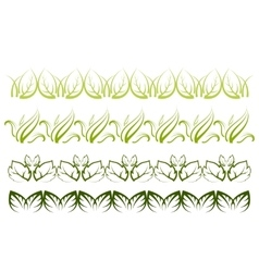 Plant Borders vector