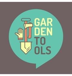 poster of gardening vector image
