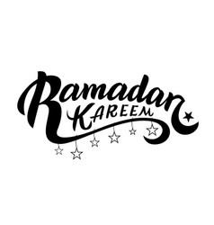 Ramadan kareem typographic design vector