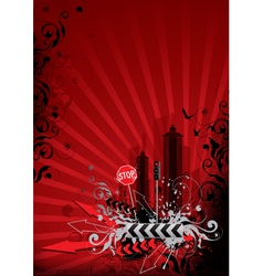 Red city vector
