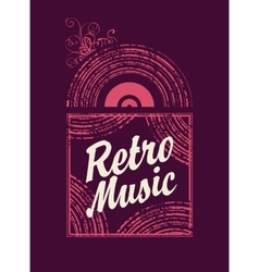 Retro music an old vinyl record vector