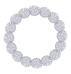 Round frame - silver chain on the white background vector