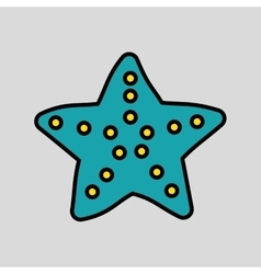 Sea star design vector