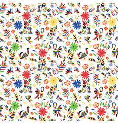 Seamless pattern with patterns in style oto vector