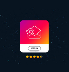 Send mail download line icon sent messages vector