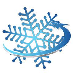 Snowflake air conditioning and ventilation symbol vector