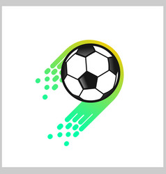 soccer foot ball logo vector image