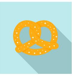 soft pretzel icon flat style vector image