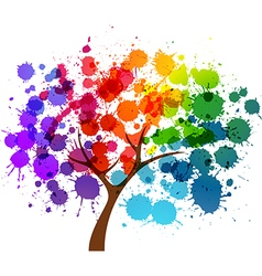 Springtime tree vector image vector image