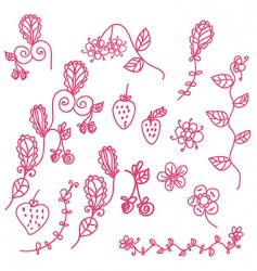 strawberry pink vector image vector image