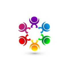Teamwork people union community icon concept vector image