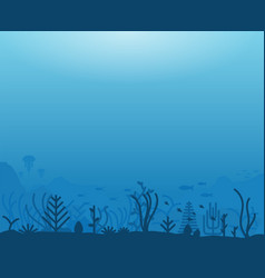 underwater sea life vector image