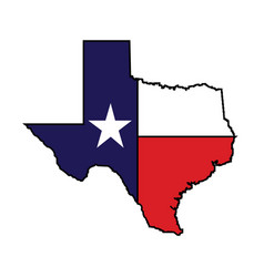 us state texas map logo design vector image