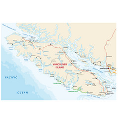 vancouver island map vector image