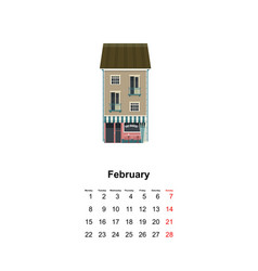 vertical wall calendar page for month 2021 vector image