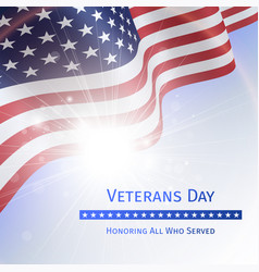 Veterans day remember and honor - poster vector