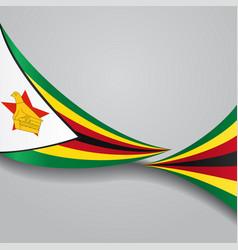 Zimbabwe wavy flag vector