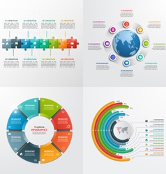 8 steps infographic templates Business concept vector image