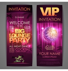 Big lounge party poster vector image