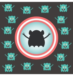 Cute alien invasion vector