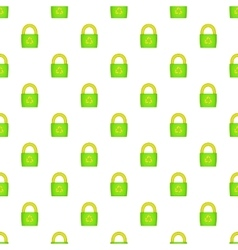 Eco bag pattern cartoon style vector image vector image