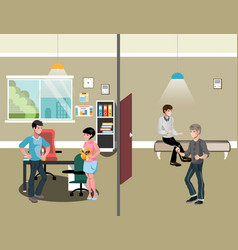 office interior workers in office vector image vector image