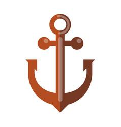 simple rusty anchor vector image vector image