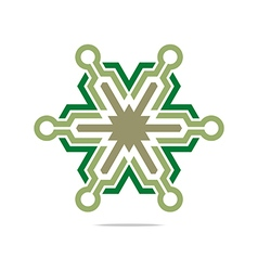 symbol hexa connecting icon element vector image vector image