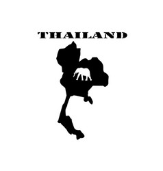 symbol of thailand and map vector image vector image