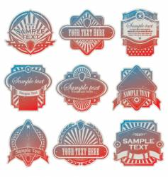 vintage USA labels vector image vector image