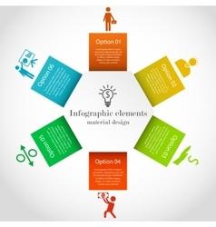 Hexagon infographic elements vector image vector image