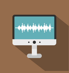 audio technology monitor icon flat style vector image
