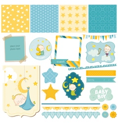 Baby Boy Sleeping Theme - for Party Scrapbook vector image