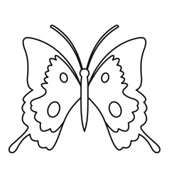 Butterfly icon outline style vector image