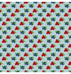 Cranberry and blueberry seamless pattern 4 vector image vector image